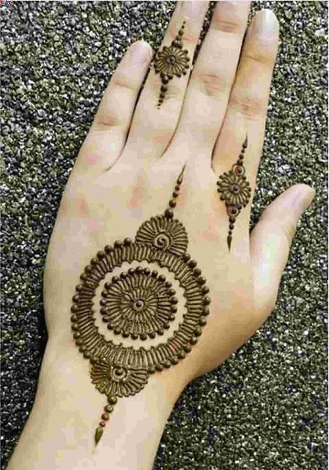 Mehndi design 2017 easy -  Easy Mehndi Flower 2017