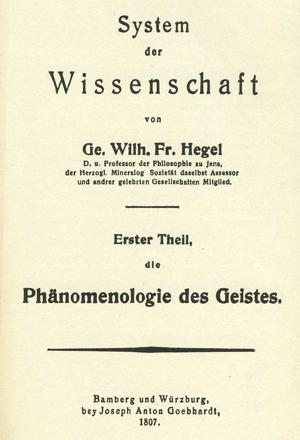 Hegel - La fenomenologia dello Spirito