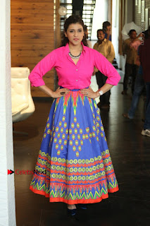 Actress Mannar Chopra in Pink Top and Blue Skirt at Rogue movie Interview  0121.JPG