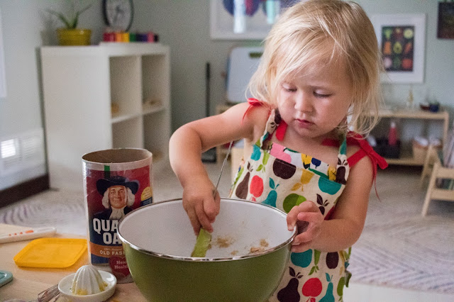 50+ Montessori friendly ideas for getting your child involved in the kitchen.