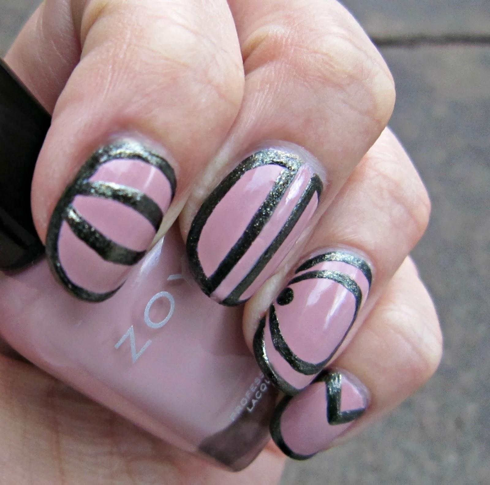 Concrete And Nail Polish Striped Nail Art: Concrete And Nail Polish: Nail Art Inspired By Freestyle