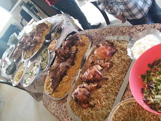 دجاج ولحم مع الفريكة والرز طريقة الزرب