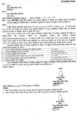 upbasiceduparishad.gov.in up 32022 anudeshak vacancy news