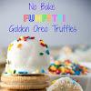 NO BAKE FUNFETTI GOLDEN OREO TRUFFLES