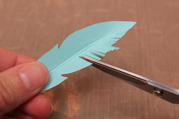 Gold Tipped Feathers Tutorial 3
