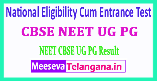 NEET PG UG 2018 Result National Eligibility Cum Entrance Test NEET PG UG 2018 Result Download