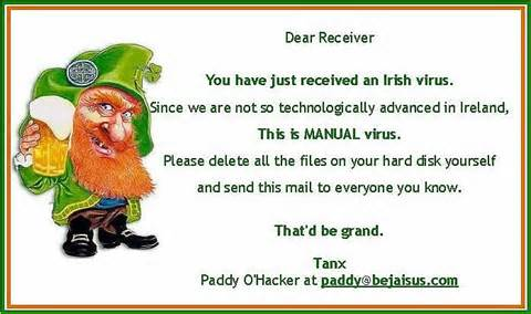 Funny Irish Drunk Joke Picture