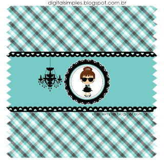 Breakfast at Tiffany's Baby: Free Printable Invitations and Candy Bar Labels.