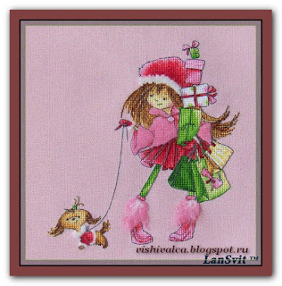Cross-stitch Lan Svit D-028 «Two Girlfriends Walking»