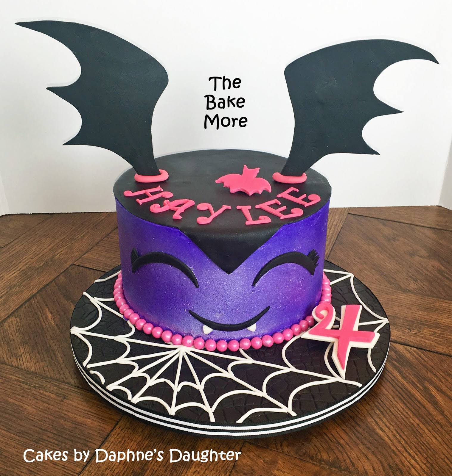 The Bake More: Easy Vampirina Cake with Spiderweb Drum