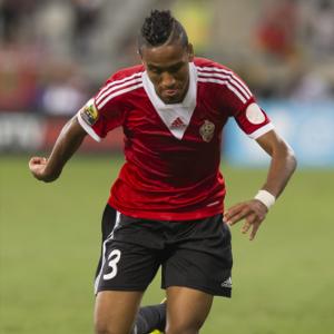 Hamdou Elhouni con la selección de Libia