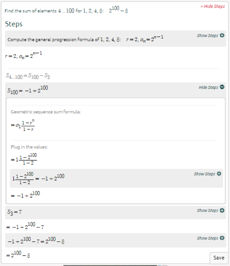 High School Math Solutions – Sequence Calculator