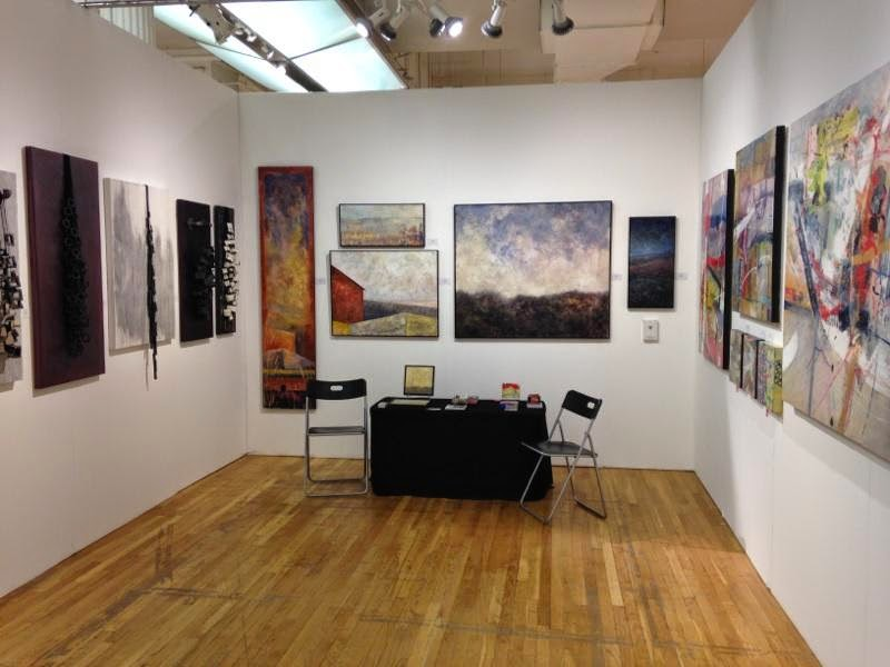 Alida Anderson Art Projects, LLC booth at Affordable Art Fair NYC Spring 2014