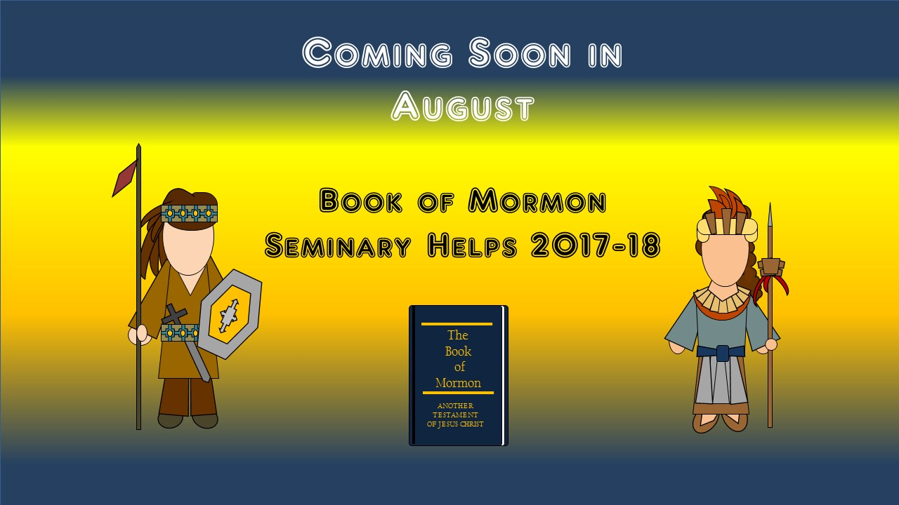Lds seminary book of mormon games