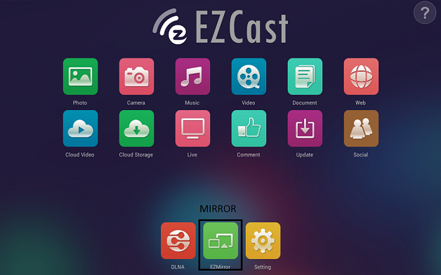 ezcast main window