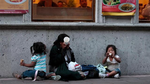 México, entre los 20 países más ricos y las 15 naciones que padecen más hambre