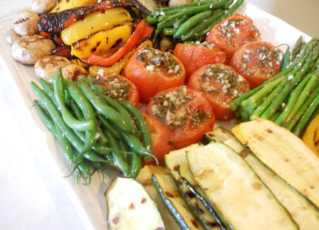 Grilled Marinated Vegetables, Summer Vegetable Platter