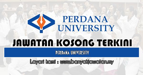 Jawatan Kosong 2019 di Perdana University