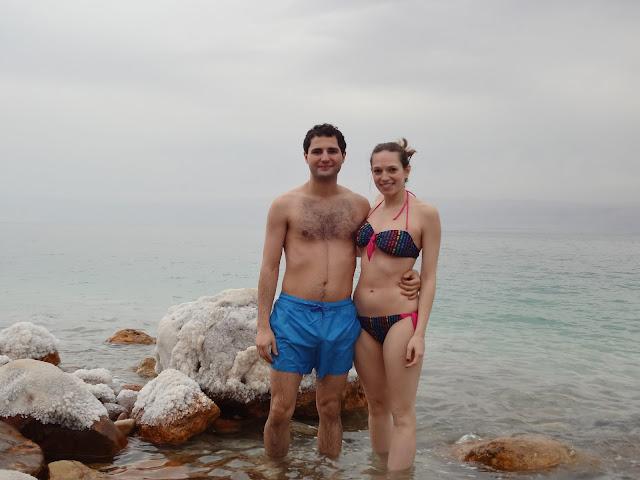 Rocas de sal en el mar Muerto