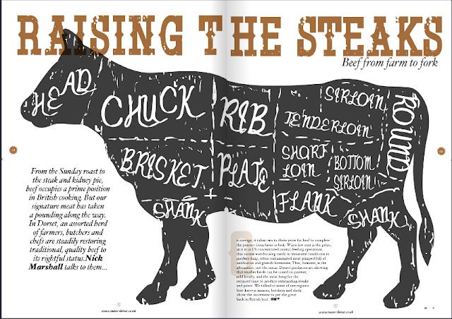 Menu Dorset gourmet steak feature