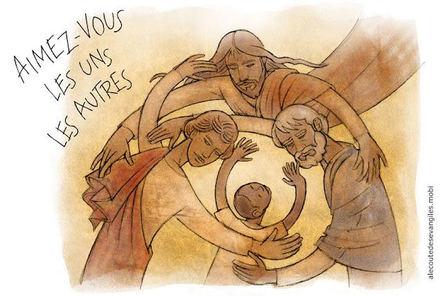« AIMEZ-VOUS LES UNS LES AUTRES »