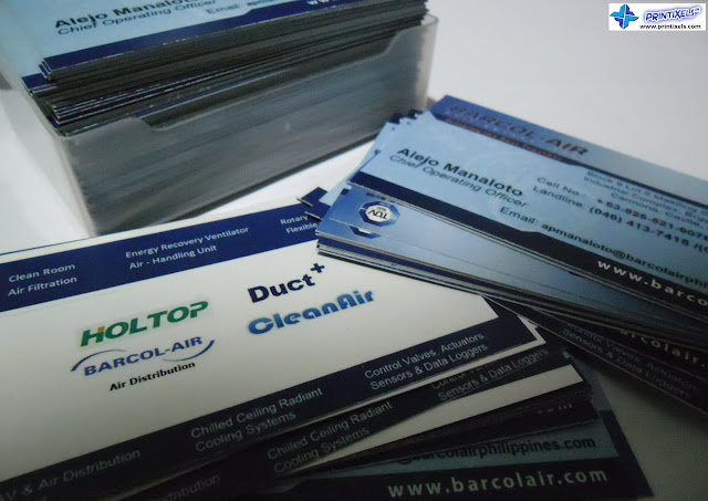 Business Cards for Barcol-Air Philippines