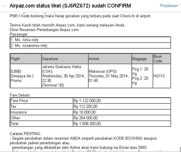 tiket pesawat airpaz
