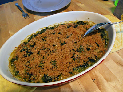 Alice Water's Swiss Chard Gratin