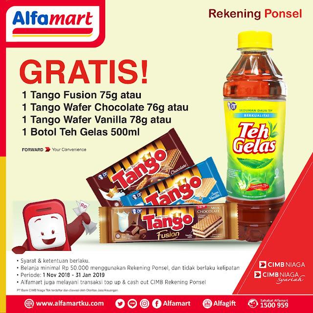 Alfamart - Promo Bayar Pakai Rekening Ponsel Banyak Gratisnya (s.d 31 Jan 2019)