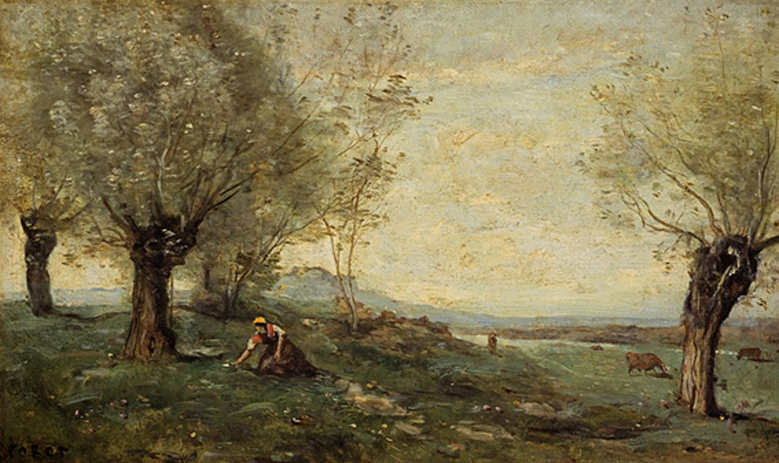jean baptise camille corot Jean-baptiste-camille corot (french, 1796-1875) after an apprenticeship of five years in a drapery business, jean baptiste corot studied painting from 1822 to 1825, first under the painter michallon, then under the classical landscape painter victor bertin, and copying works by joseph verner and others, including the 17th century dutch masters.