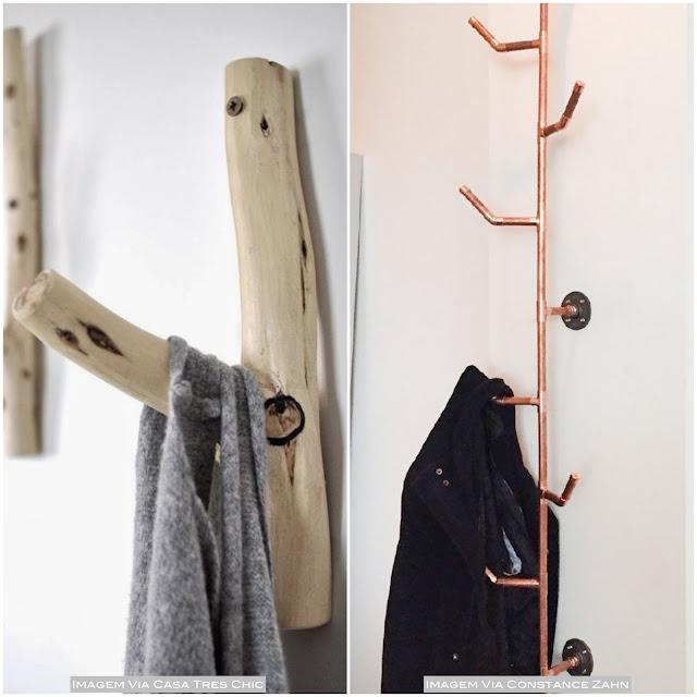 como decorar com cabideiros de parede