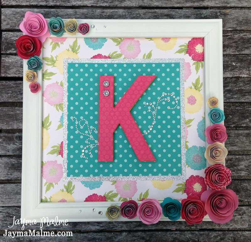 Playing With Paper Sbooks Cards Diy Baby S Initial Framed Nursery Decor