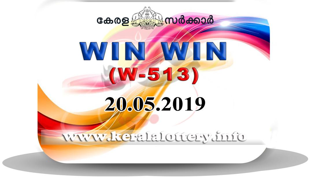 05 >> Kerala Lottery Results 20 05 2019 Win Win W 513 Result Live Kerala