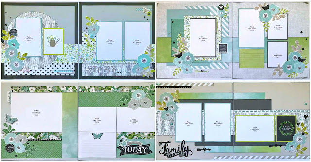 Floral - Family scrapbooking layouts
