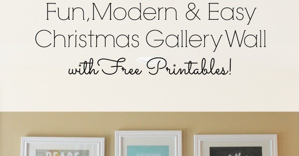Free Printable Modern Christmas Wall Prints For Living Room