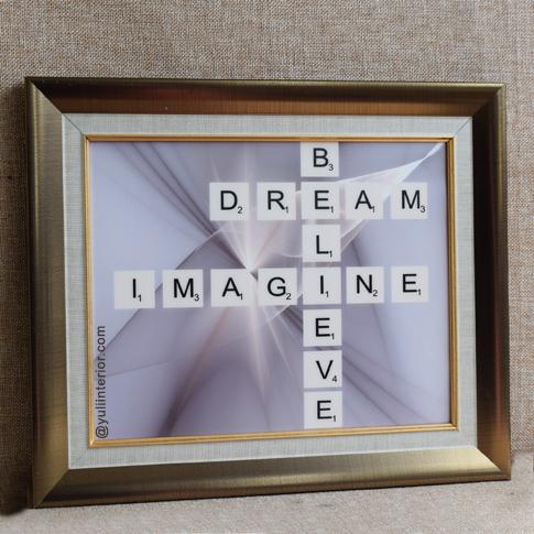 Scrabble Letters Wall Frame