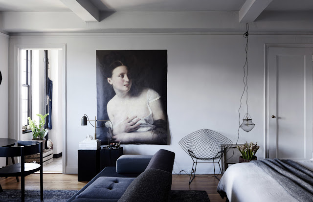 Petit appartement glamour et moderne à Manhattan.