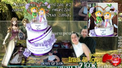 tarta personalizada fondant zelda modelado link nupcial boda Laia's Cupcakes Puerto Sagunto