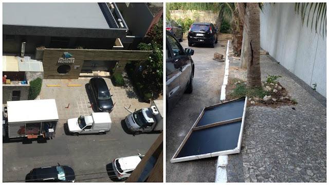 Mais um problema na Rua do Barro Vermelho as placas de sinalização sumiram