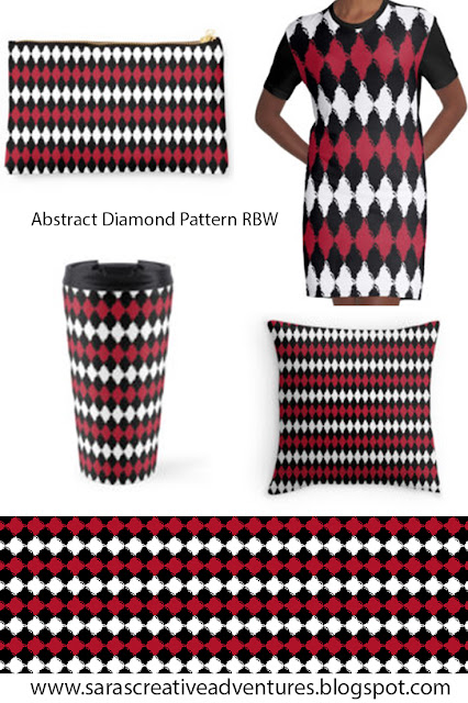 Abstract Diamond Pattern RBW