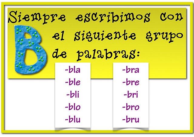 Mis cositas de profe posters ortografia for La b b
