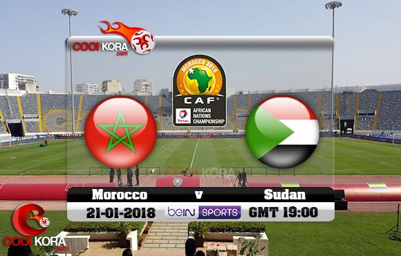 مشاهدة مباراة المغرب والسودان اليوم 21-1-2018 بطولة أفريقيا للاعبين المحليين