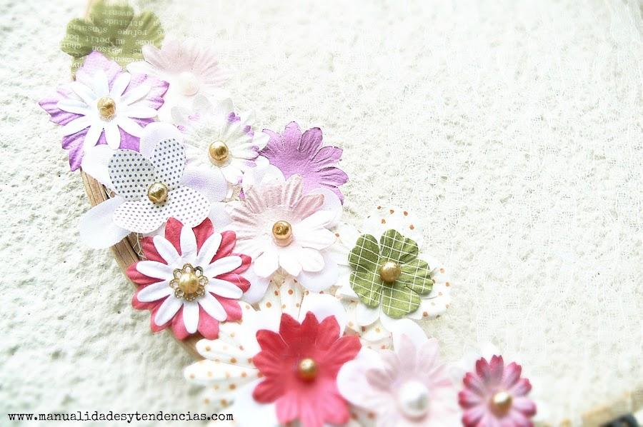 Flores para decorar un atrapasueños boho chic