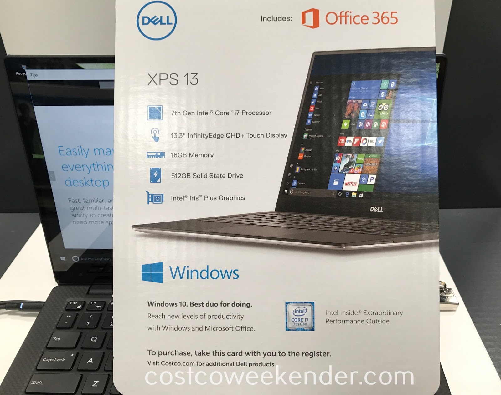 Costco 1136247 - Dell XPS 13 Laptop with Office 365 Personal: great for home, school, office, and travel