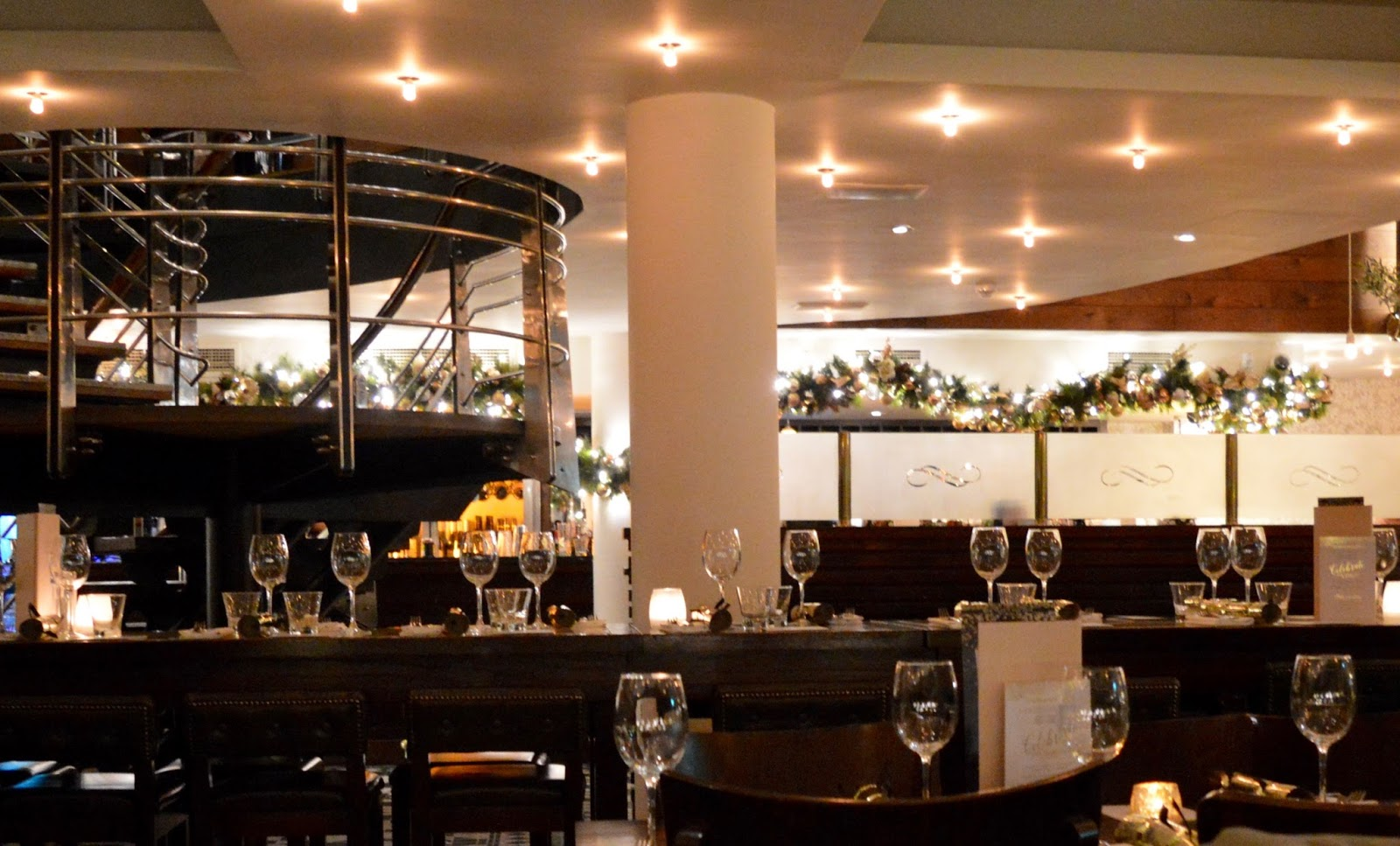 Celebrate Christmas at Newcastle Gusto - restaurant interior