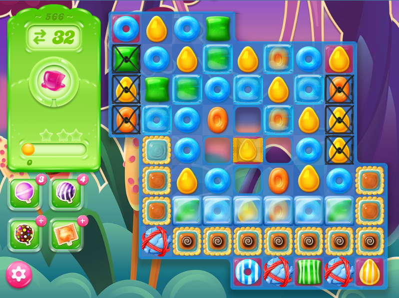 Candy Crush Jelly Saga level 566