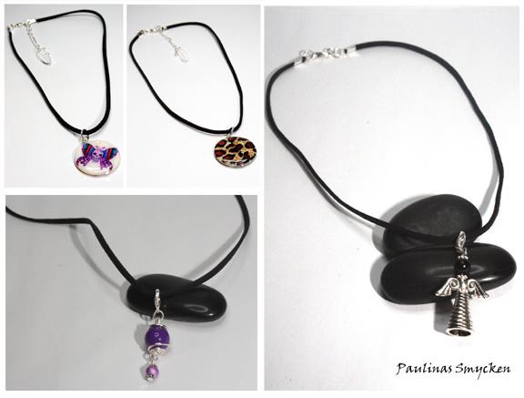Genom att köpa ett mockaband med lås och flera berlocker kan du lätt  variera ditt halsband. Eller varför inte sätta en berlock i nyckelknippan 4bb42ec0b1218