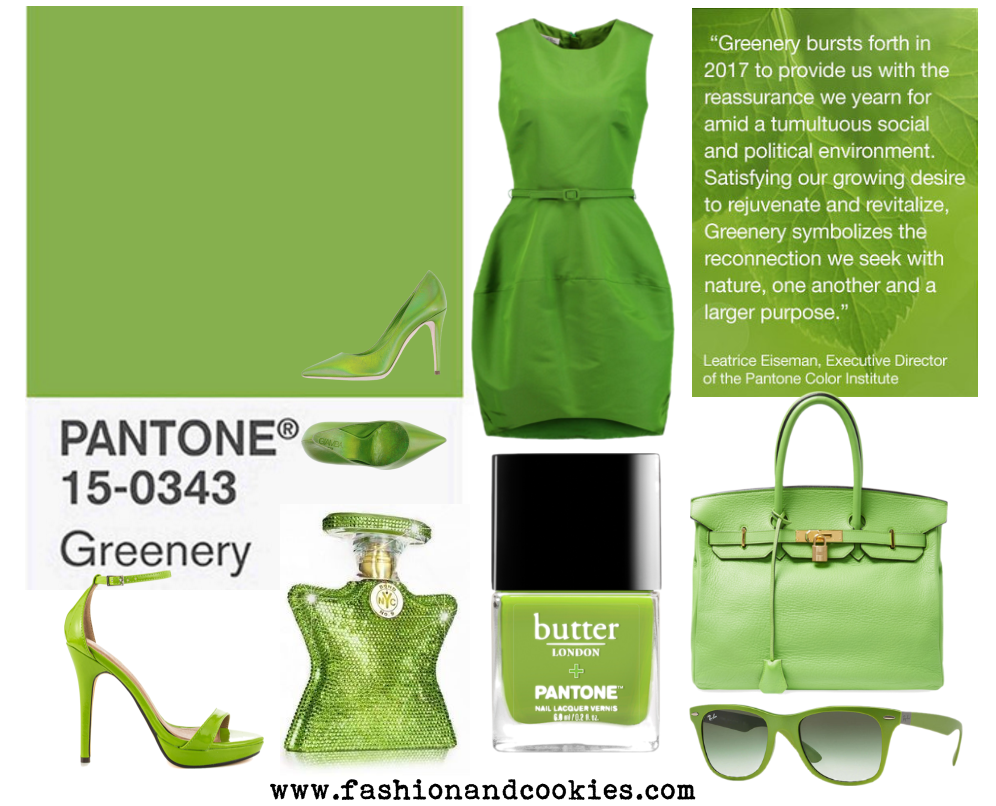 Pantone's color of the year is Greenery, a sort of bright yellow-green shade on Fashion and Cookies fashion blog, fashion blogger