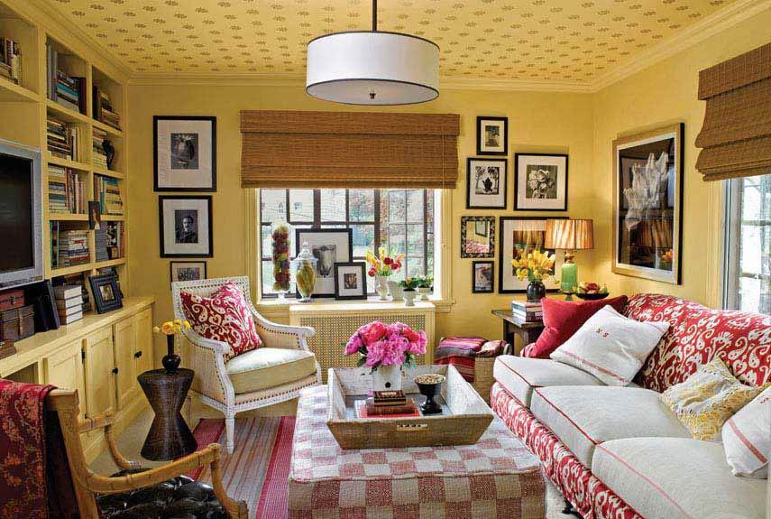 Fotos de salas decoradas con cuadros ideas para decorar - Decorar salon con cuadros ...