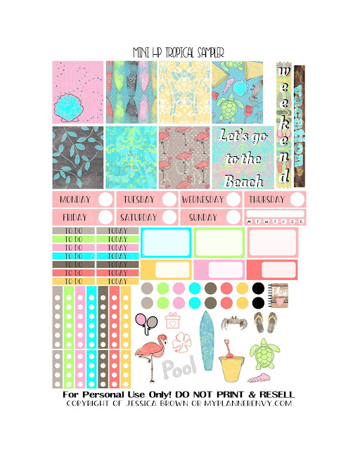 Free Printable Tropical Sampler for the Mini Happy Planner from myplannerenvy.com